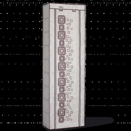 Тканевый шкаф для обуви Уют, слоновая кость