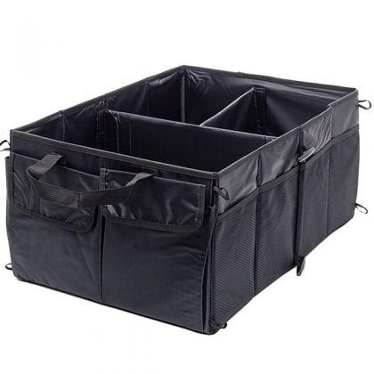 Органайзер трехсекционный для хранения вещей, черный