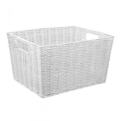 Корзина для хранения плетеная, белая