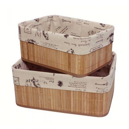 Набор из 2 коробок из бамбука для хранения вещей, париж