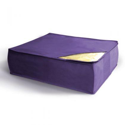 Чехол для хранения подушек и одеял 50x58x19 см, фиолетовый