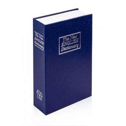 Шкатулка-книга с ключом The New English Dictionary, синяя