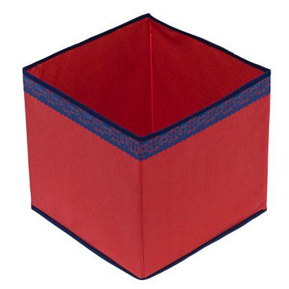 Коробка куб 32х32х32см Rosso