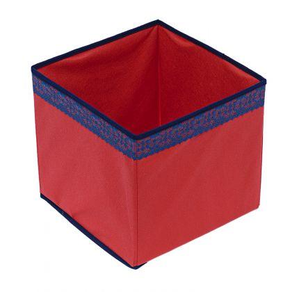 Коробка куб 27х27х27см Rosso