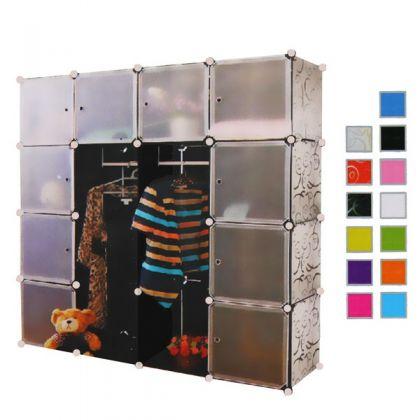 Кубический шкаф 12 отделов 145x37x145 см, разные цвета