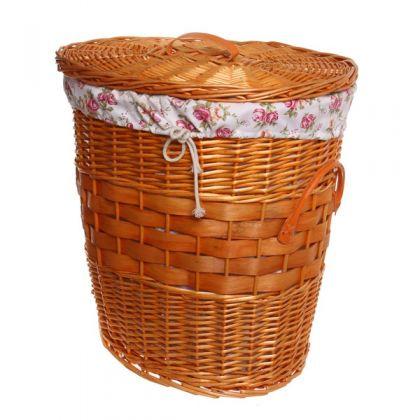 Корзина для белья 42x34x43 см плетенная, дерево