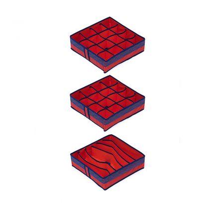 Комплект органайзеров на 6, 16 и 16 ячеек Rosso