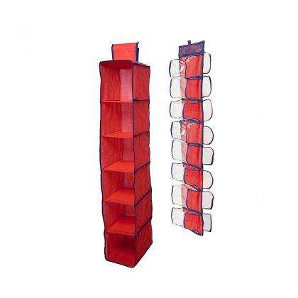 Комплект подвесных органайзеров в шкаф, для колготок, шарфов и мелочей Rosso