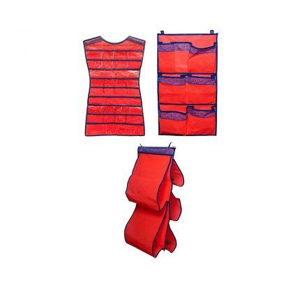Комплект подвесных органайзеров для сумок, платье и 7 карманов Rosso