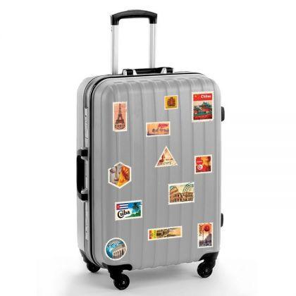 """Набор наклеек на чемодан """"Почтовые марки"""""""