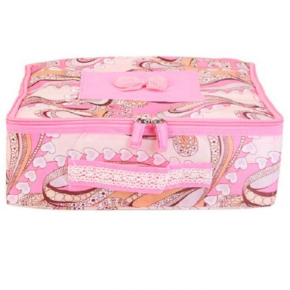 Органайзер для носков 29x29x12 см, розовый