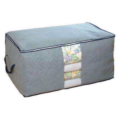 Короб для вещей на замке Ромбы 58x36x30 см, серый