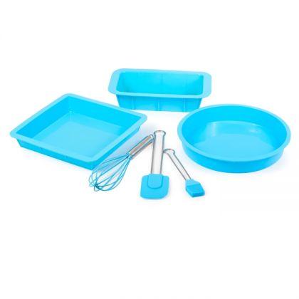 Набор для выпечки Радость 6 предметов, голубой