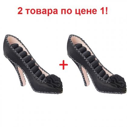 2 подставки для украшений Туфелька, черные