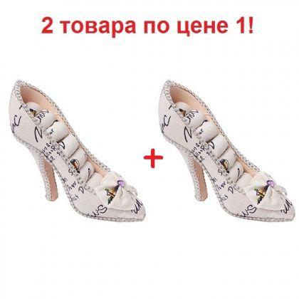2 подставки для украшений Туфелька, белые