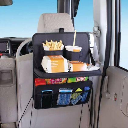 Органайзер многофункциональный со столиком на спинку в авто