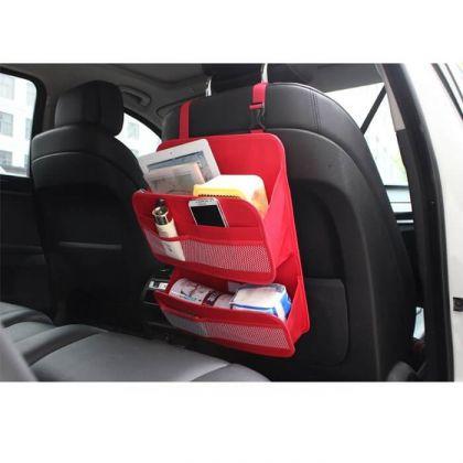 Органайзер многофункциональный на спинку в авто, красный