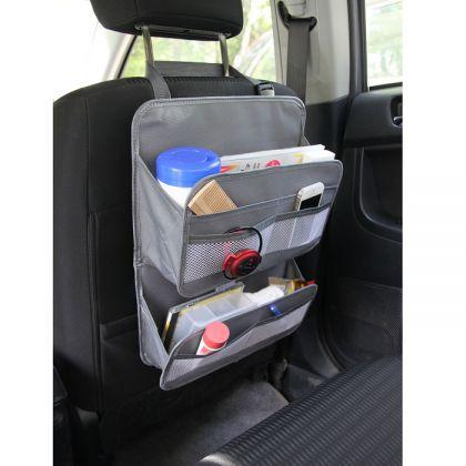 Органайзер многофункциональный на спинку в авто, серый