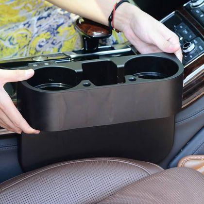 Подставка в авто для стаканов и телефона, пластиковая