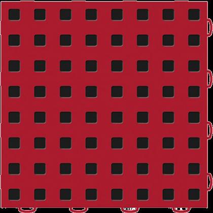 Плитка напольная 30,5x30,5 см, красная с черными квадратами