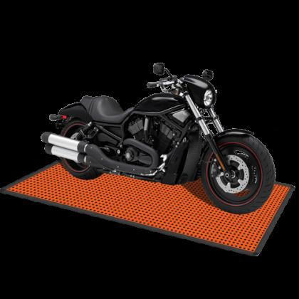 Напольное покрытие для мотоцикла 1,32x2,54 м, оранжевое