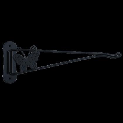 Кронштейн поворотный для подвешивания кашпо 23,5 см, черный