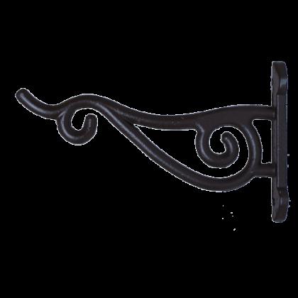 Кронштейн для подвешивания кашпо 12,5 см, черный