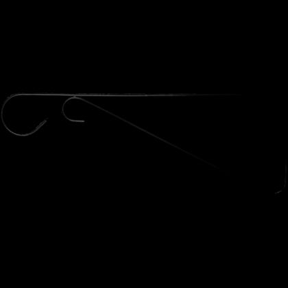 Кронштейн для подвешивания кашпо и фонарей 30 см, черный