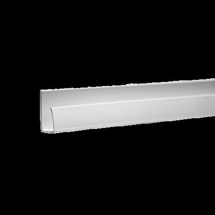 Торцевая планка для пластиковых панелей 200x2 см, белая