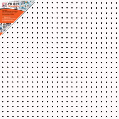 Перфопанель 60x60x0,3 см, белая