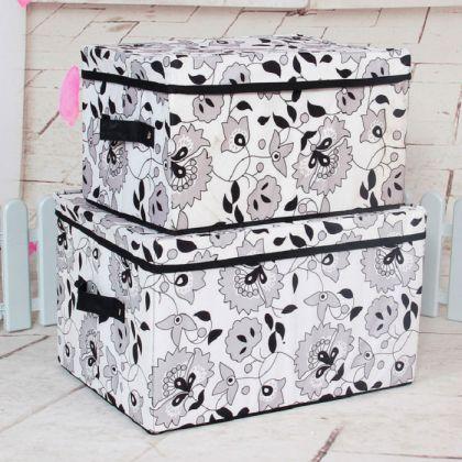 Складная коробка для хранения вещей Цветочки, 40*30*24 см.