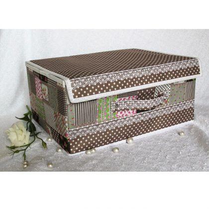 Коробка для хранения вещей с крушкой, какао лайм 36*26*15.5см