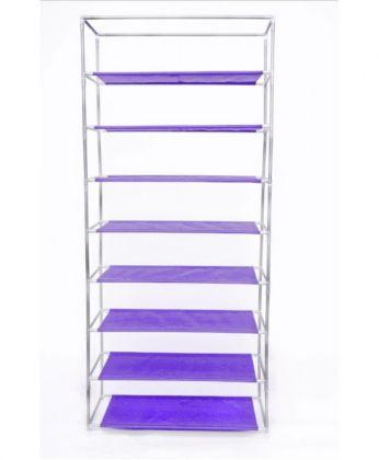 Обувница 9 ярусов, фиолетовая