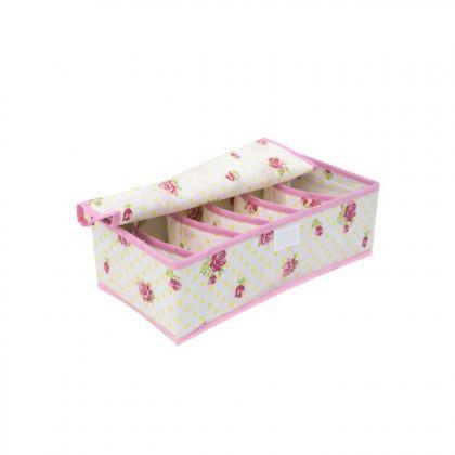 Органайзер для мелочей с крышкой розы на 6 ячеек
