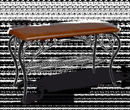 Банкетка Изабель 1, черная, коричневая