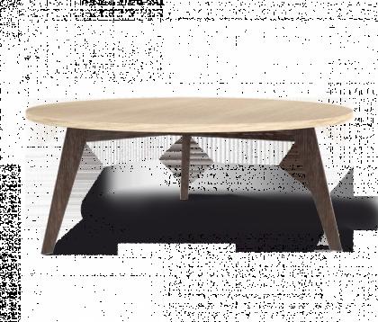 Журнальный столик модель 1, дуб беленый, венге