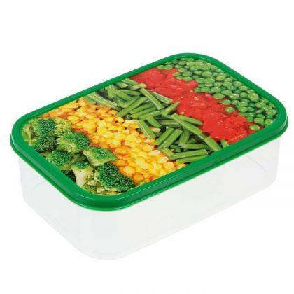 Коробка для еды прямоугольная 1,2л, Овощи