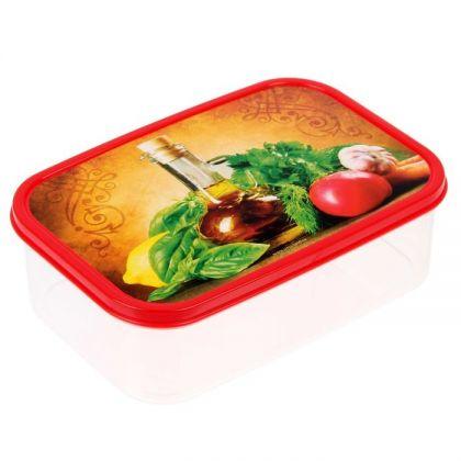 Коробка для еды прямоугольная 1,2л, Прованские травы