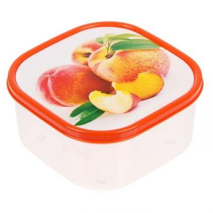 Коробка для еды квадратная 700мл, персики