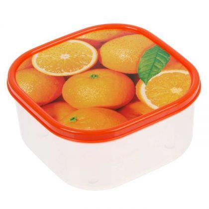 Коробка для еды квадратная 700мл, апельсины