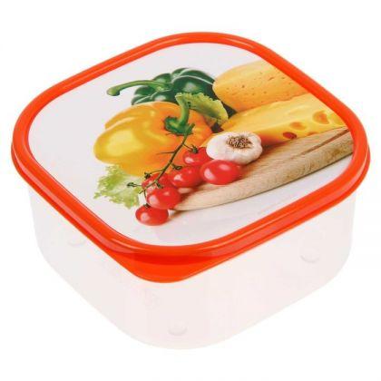 Коробка для еды квадратная 700мл, перцы