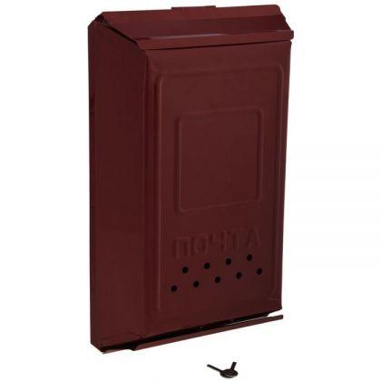 Почтовый ящик с замком-щеколдой металлический, вишневый