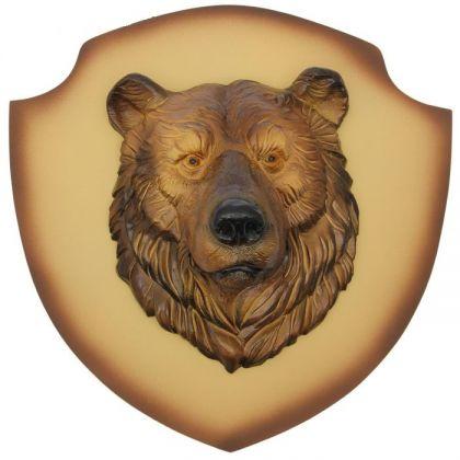 """Декор на стену """"Медведь"""" бежевый фон"""