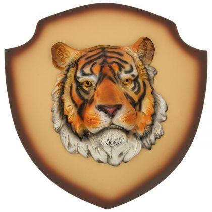 "Декор на стену ""Тигр"" бежевый фон"