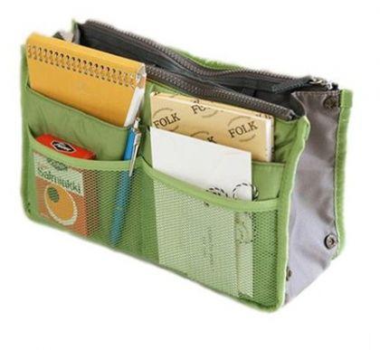 Органайзер для сумки 30X18,5X8,5 Chelsy, зеленое яблоко