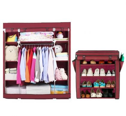 Комплект шкафов, бордовый