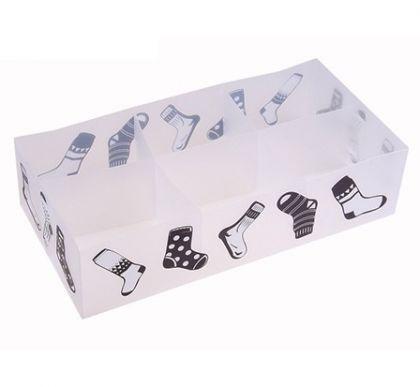 Коробка на 6 отделений для хранения носков