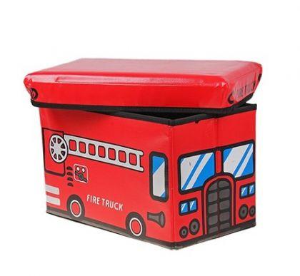 Коробка для хранения детская Пожарка, красная, большая