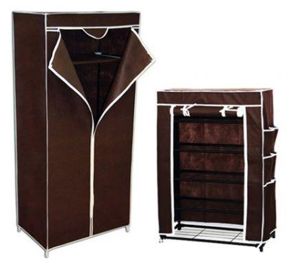 Комплект шкафов, тёмно-коричневый