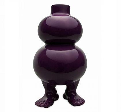 Ваза на ножках фиолетовая